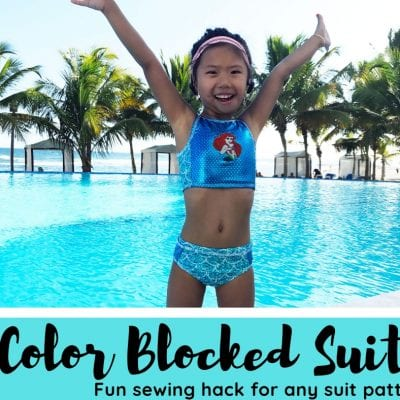 Color Blocked Swimsuit Hack
