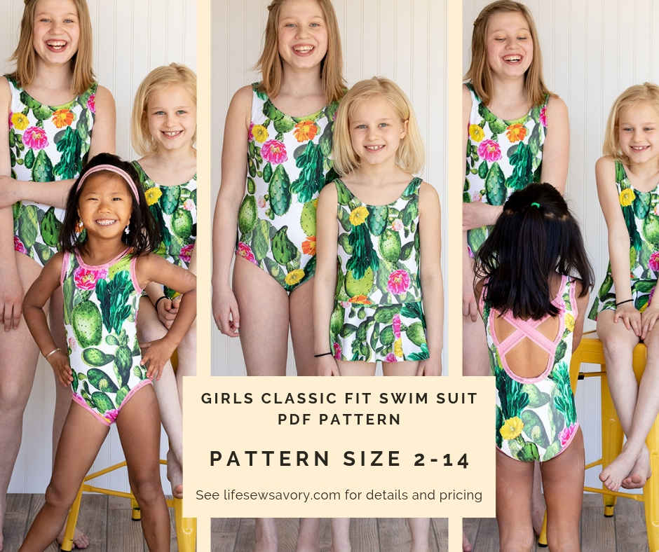 girls swimsuit pdf pattern