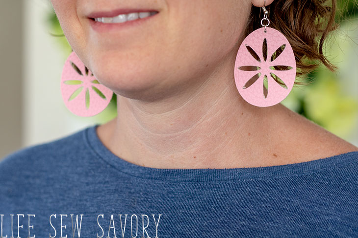 faux leather earring svg