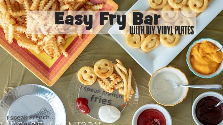 Easy Fry Bar with dips and custom plates