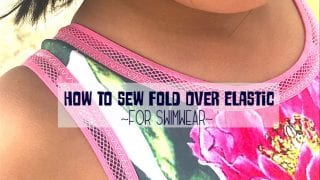 How to sew FOE {fold over elastic}