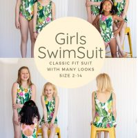 Girls swim pattern from Life Sew Savory