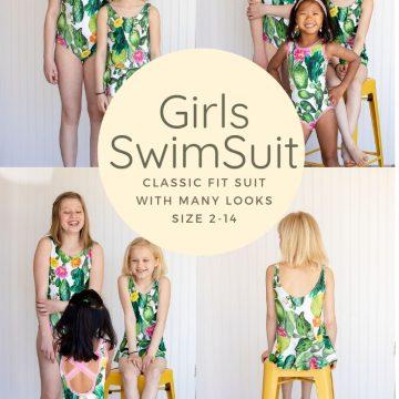 Girls swim pattern from Life Sew Savory