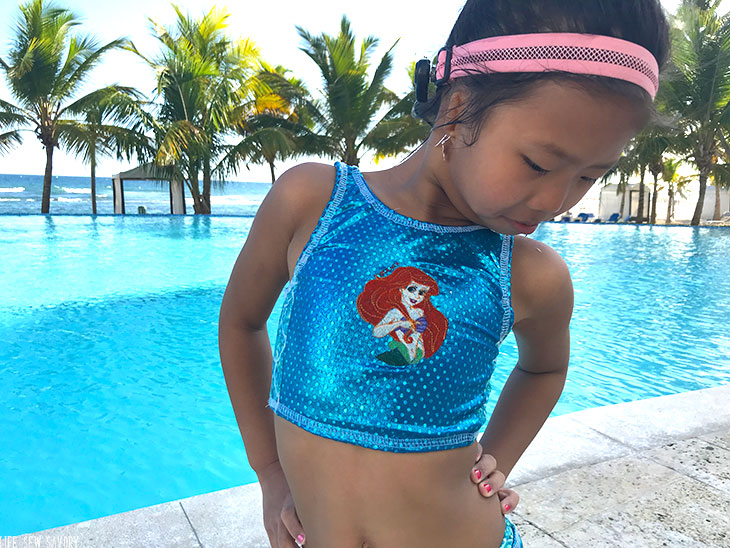 embroidered swim top