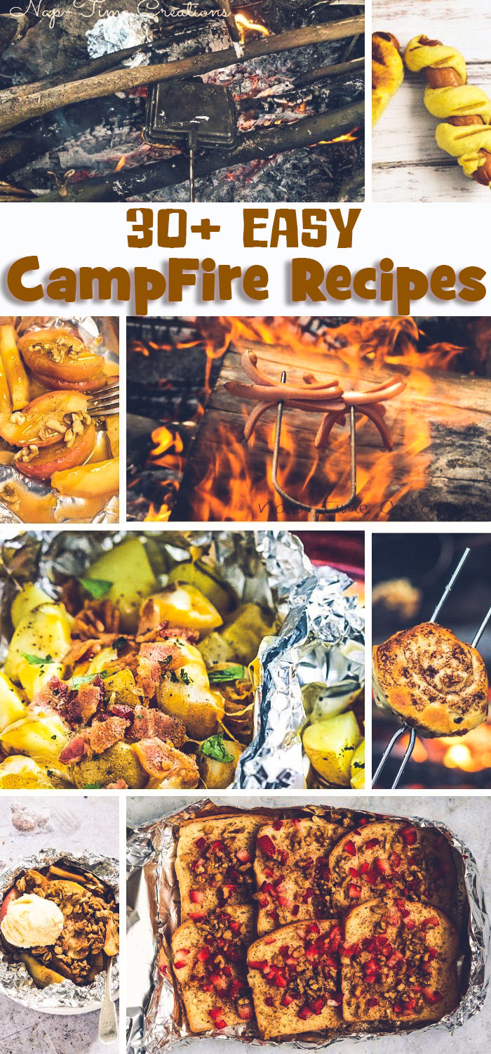Easy Camping recipes to make over the campfire this summer from Life Sew Savory #camping #campingrecipe