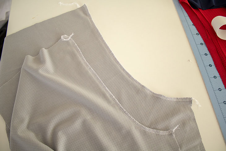 Sewing shorts mesh shorts