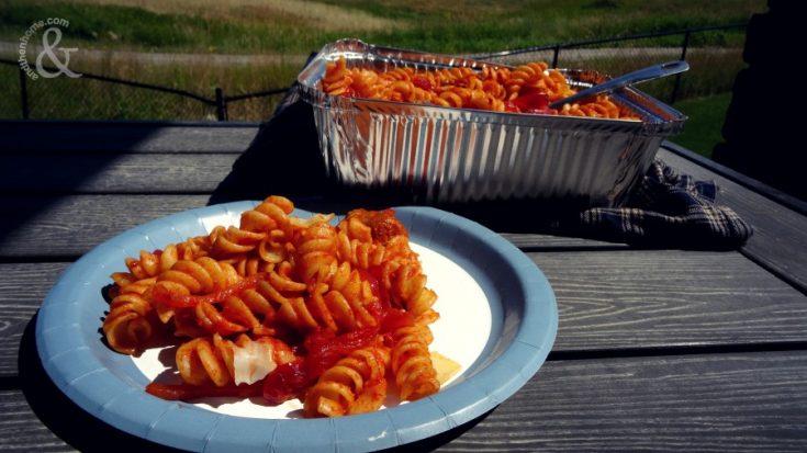 Campfire Sausage and Rotini Pasta