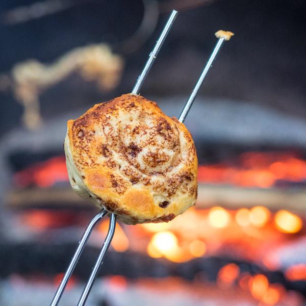 Campfire Toasted Cinnamon Rolls