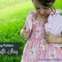 The Easy Ruffle Shrug: free pdf pattern from SewCanShe