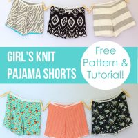 DIY Girls Knit Pajama Shorts