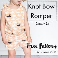 Free Girls Romper Pattern - Easy Knit Romper for toddlers and girls