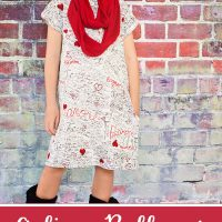 Girl's A-line Pullover Dress, Free Pattern size (4 to 10)