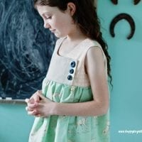 Free Girls Dress Pattern: The August Dress Pattern Sizes 2-9