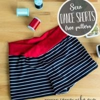 How to Sew Girls Dance Shorts {free sewing pattern}