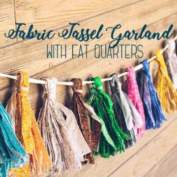 fabric tassel garland tutorial and DIY