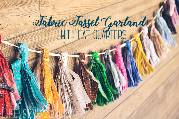 fabric tassel garland tutorial and DIY