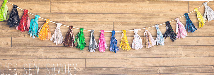 how to make tassel garland with fabric