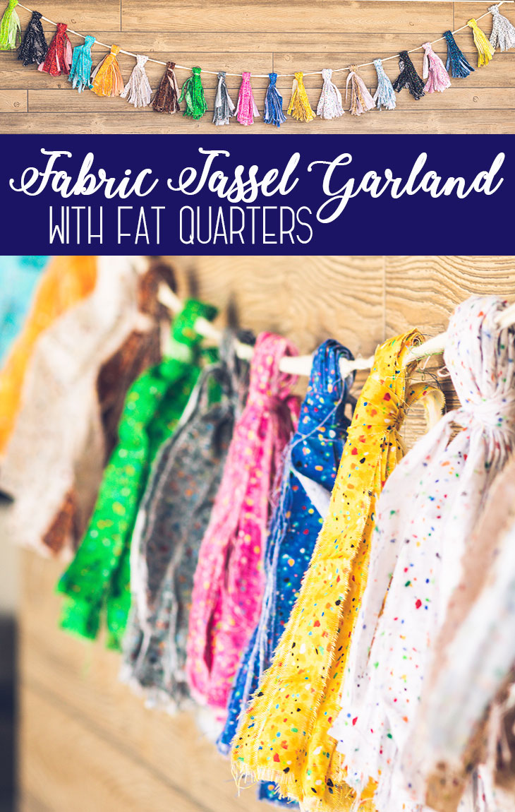 Fabric Tassel Garland DIY tutorial with fat quarters from Life Sew Savory