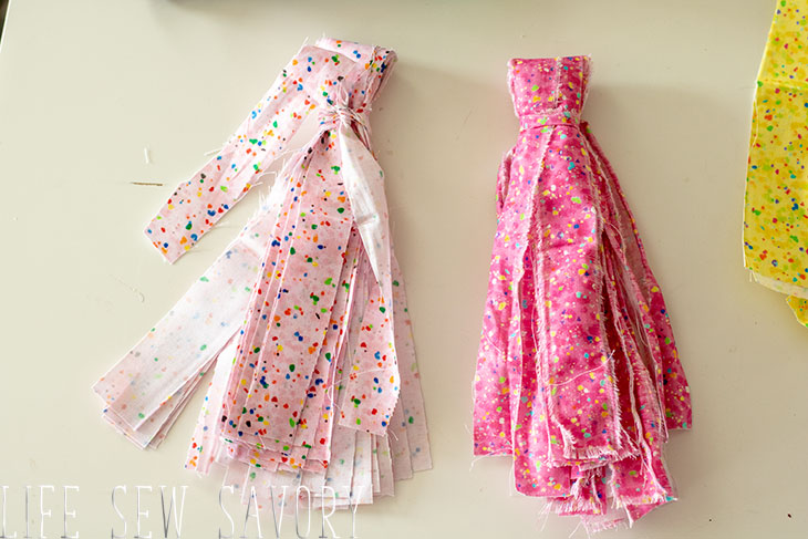 fabric tassels from fat quarts