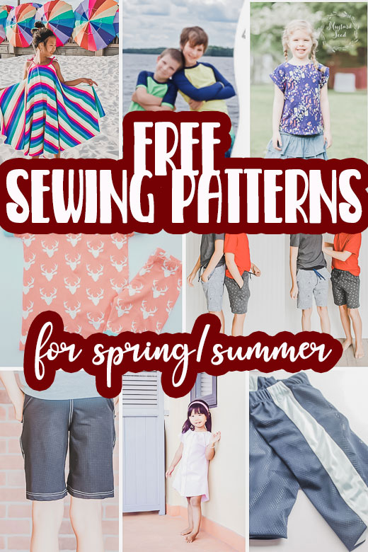 free sewing patterns for kids spring/summer