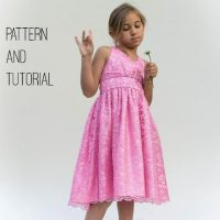 Free girl's halter dress pattern