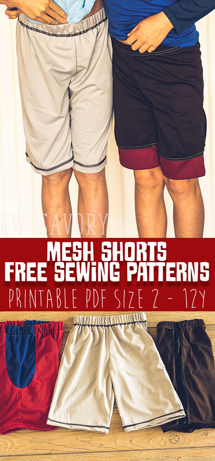 Free Shorts Sewing Pattern - Sports Shorts free printable pattern sizes 2-12Y from Life Sew Savory