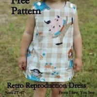 Retro Reproduction Dress FREE Pattern and Tutorial