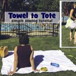 how to make a beach towel tote bag