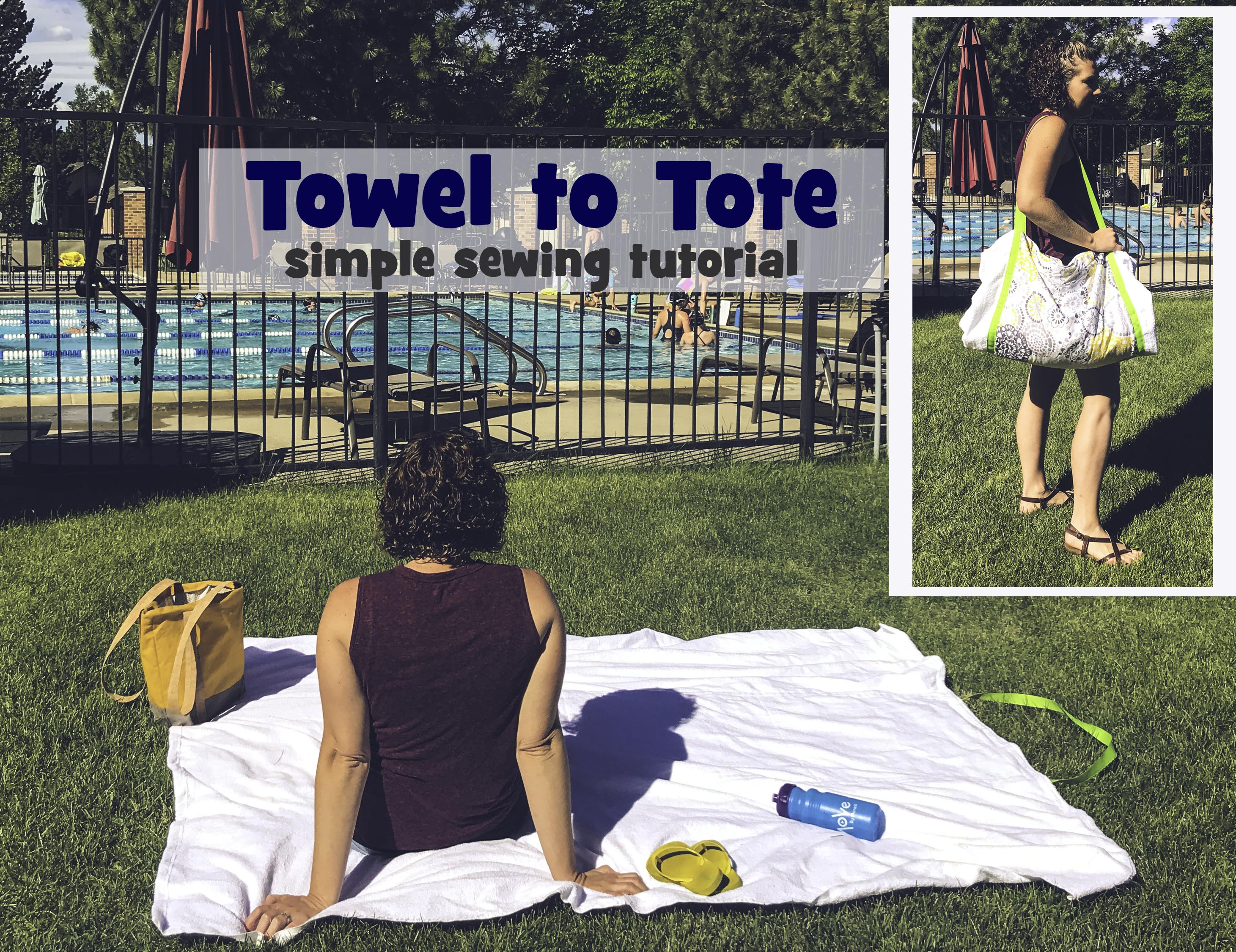 Beach Towel Tote Pattern
