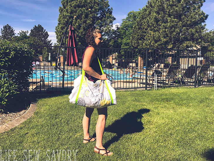 Beach Towel Tote Pattern sew tutorial