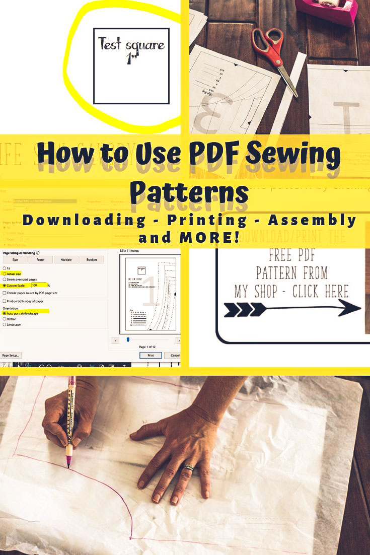 How to use PDF sewing patterns - Everything you need to know! downloading, printing, and assembly. Get started with PDF patterns today. From Life Sew Savory