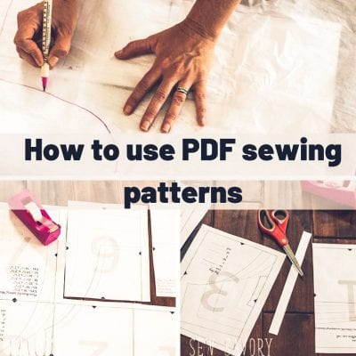 Everything you need to know about PDF sewing patterns. Download, print, assemble and sew from Life Sew Savory