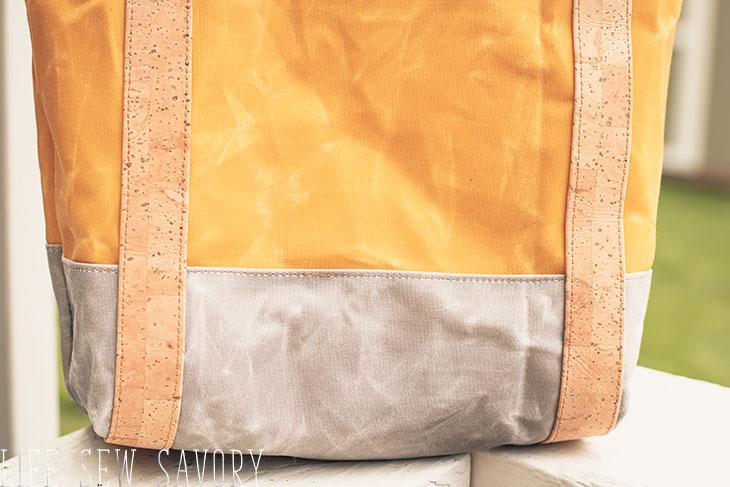 wax canvas tote bag