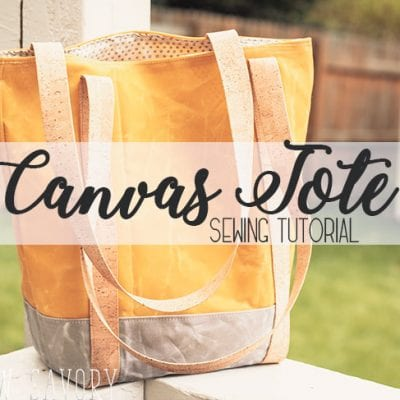 How to Make a Tote Bag with Wax Canvas