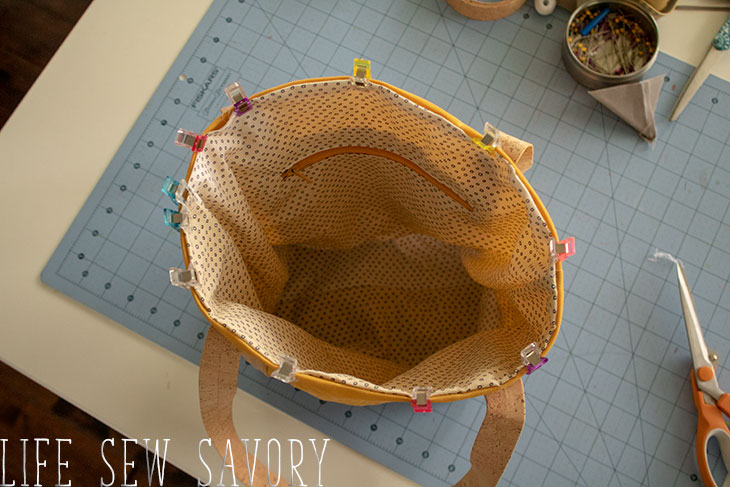 DIY canvas tote bag