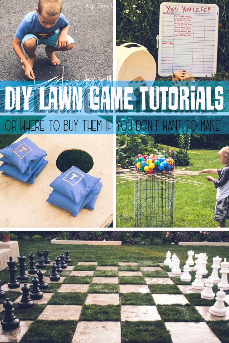best lawn games DIY tutorials and ideas. How to buy or make the best lawn games for summer fun from Life Sew Savory