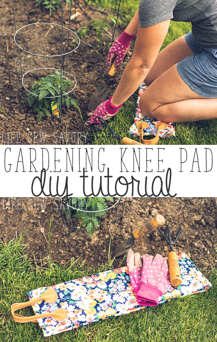 Gardening Knee Pad Sewing Tutorial for summer from LIfe Sew Savory