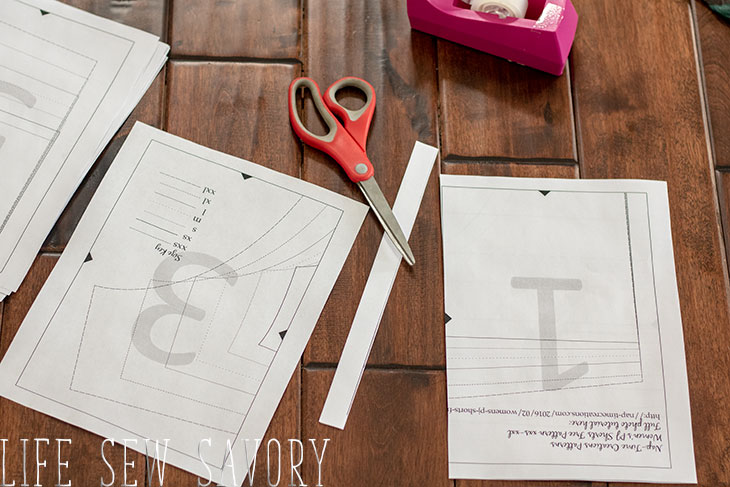 how to assemble a pdf pattern trim and cut the pattern borders