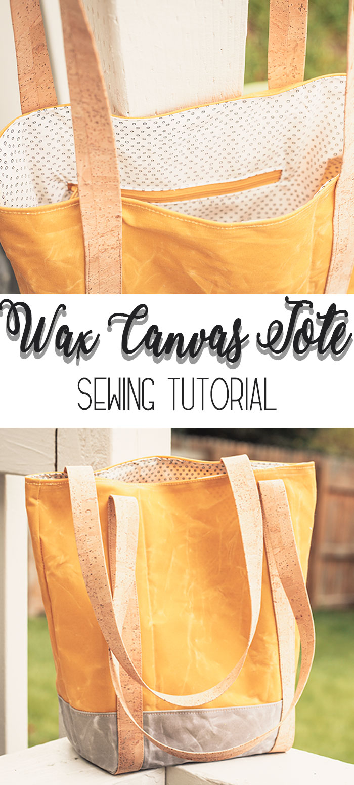 How to make a tote bag sewing tutorial - Canvas Tote Bag Pattern from Life Sew Savory
