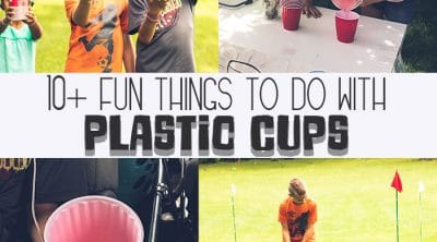 cool activities with plastic cups
