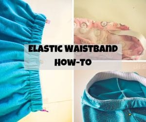elastic waistband how to tutorial