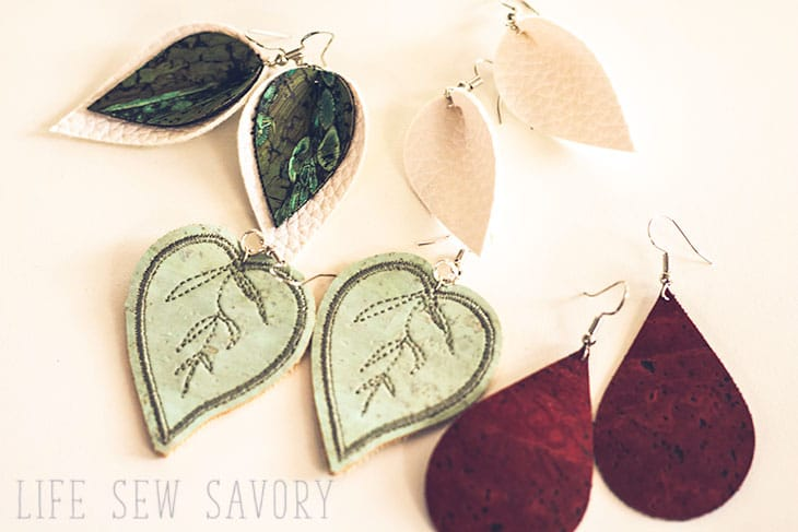 how to make your own cork earrings with embroidery
