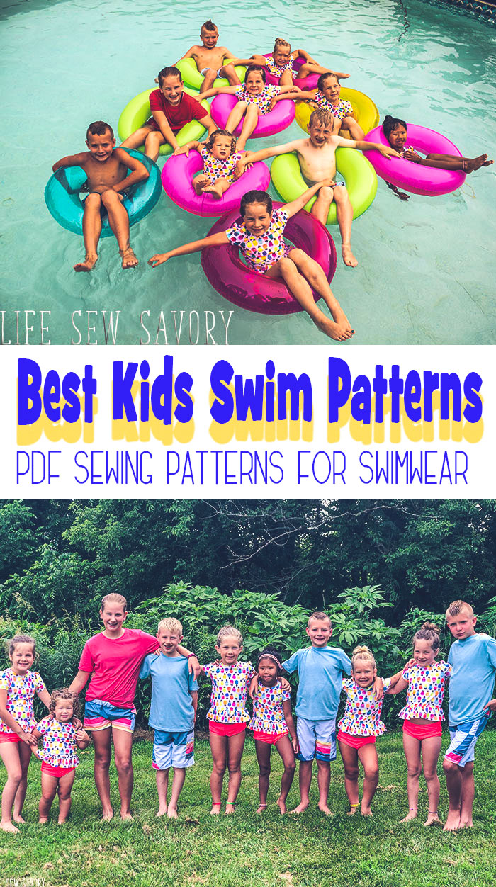 Best Swimsuit Sewing Patterns for Kids and bathing suit patterns for pdf sewing from Life Sew Savory