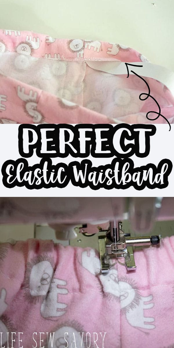 learn How to Sew Elastic Waistband with or without a casing for your elastic waistband needs. Photo and video tutorial for elastic waistband sewing.
