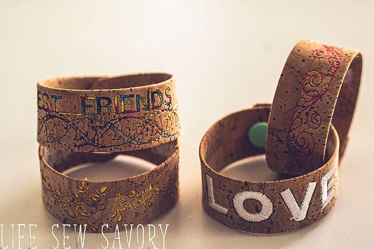 fun cork bracelets