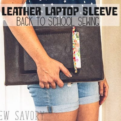 DIY Laptop Sleeve Sewing Tutorial