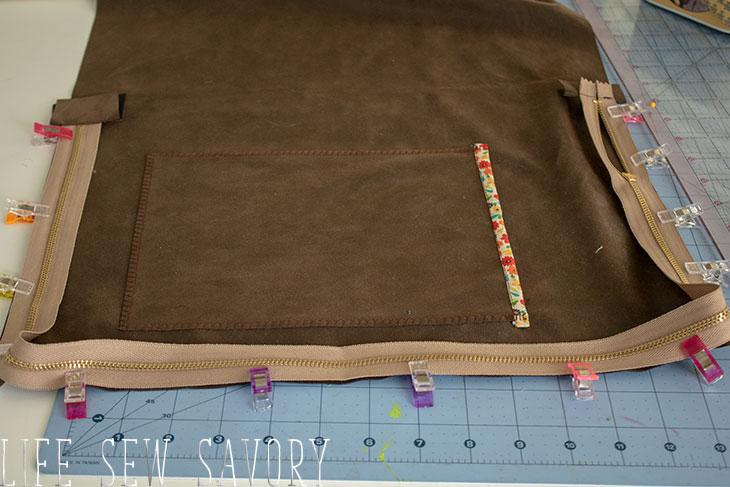 Pin zipper to case