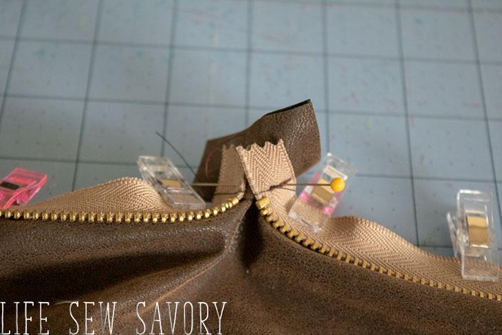 zipper tab corner