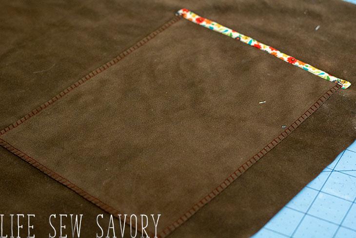 decorate pocket stitching
