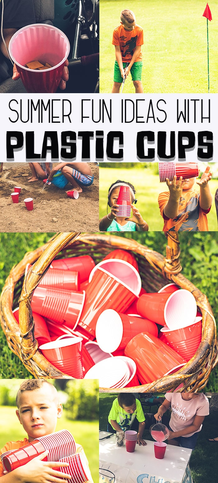 things to do with plastic cups fun summer kids activities from Life Sew Savory